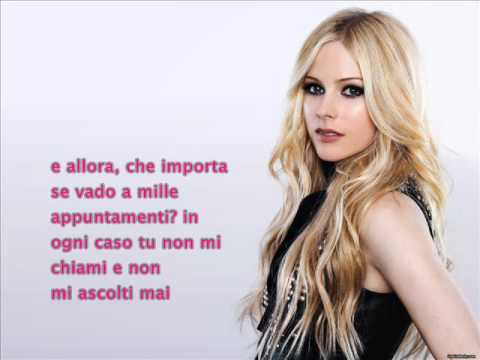 Avril Lavigne - What The Hell - Italiano video