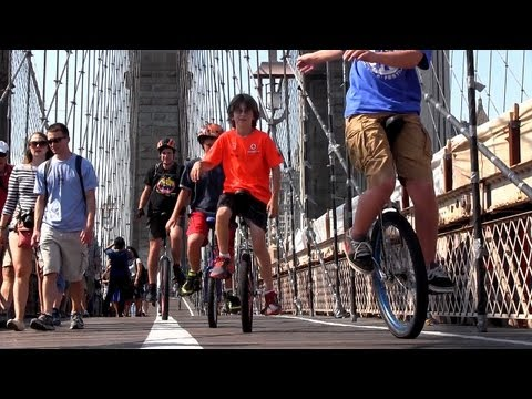 1 September 2012 NYC Unicycle Festival w/ long distance ride to Coney Island