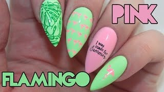 How To: Pink Flamingo Acrylic Nails Tutorial