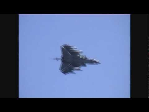 RAF Tornado GR4 fast jet role demonstration over the sea at Eastbourne