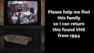 Found VHS - help me locate this family