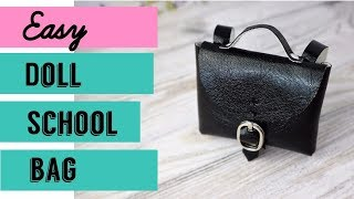 Back To School - Monster High Doll School Uniform / Doll School Leather Bag Backpack Barbie Bratz