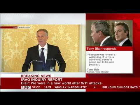 Emotional Tony Blair responds to Iraq Chilcot Inquiry