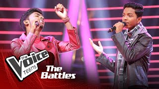 The Battles : Sasindu Raveen V Yugendran Paniyarthnam | Kadhal Rojave | The Voice Teen Sri Lanka