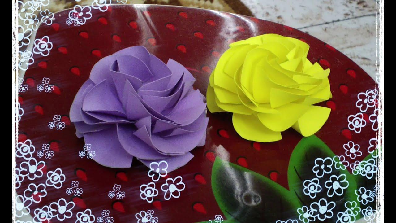 Открытка розы из салфеток