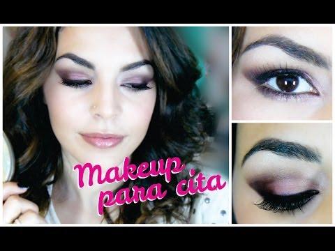 Maquillaje para chicas MORENAS ♥ Para cita ♥ Smokeyes marrones y rosa