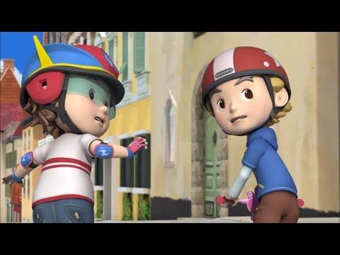 Робокар Поли -  Правила дорожного движения (серия 15) - Где можно кататься на роликах и скейтборде