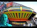 Man Goes Crazy Riding UFO Carnival Ride Alone, 100% Vacant   Bouncing Off Walls & Getting Kick Off