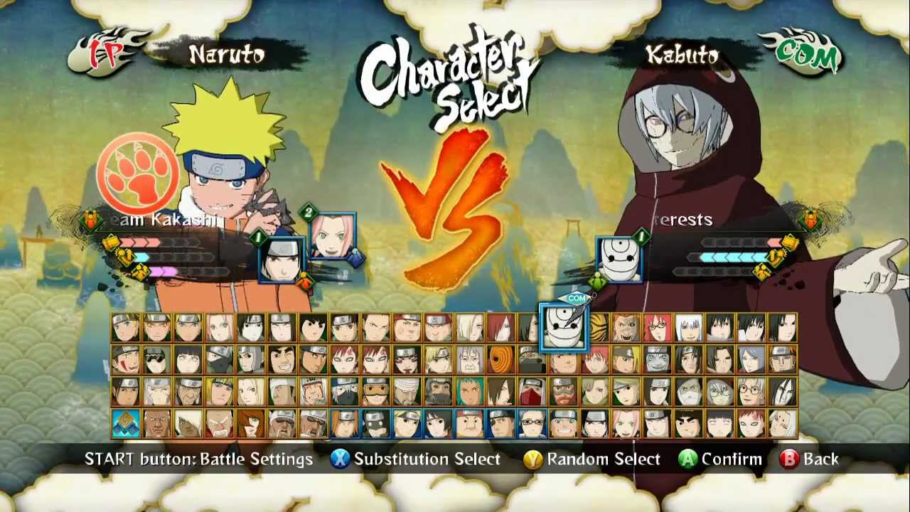 personnages de naruto shippuden ultimate ninja storm 3