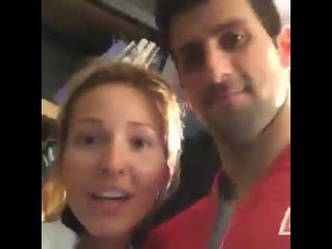 "Jelena and Novak Djokovic ""Friday night in Paris"""