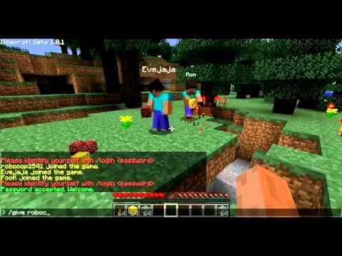 Minecraft ทดสอบ Plugin Herobrine