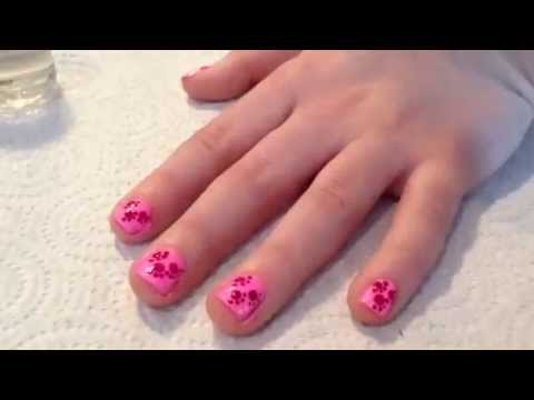 Paw print valentines day nail art tutorial