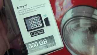 Seagate GoFlex Satellite Portable Wireless Hard Drive Unboxing