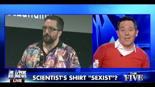 PhD Astrophysicist UK Hater Weeps/Sexy Rayon Aloha Shirt-Gutfeld-Commie Agitating Cells In Ferguson