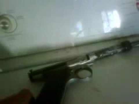 How to make a .22 Caliber Homemade handgun from Crosman Pellet Gun Parts