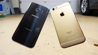 Samsung Galaxy S7 vs iPhone 6S Durability Drop Test!