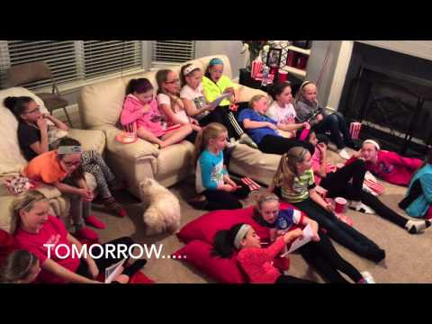 Annie Movie Sing Along From Girls at Party