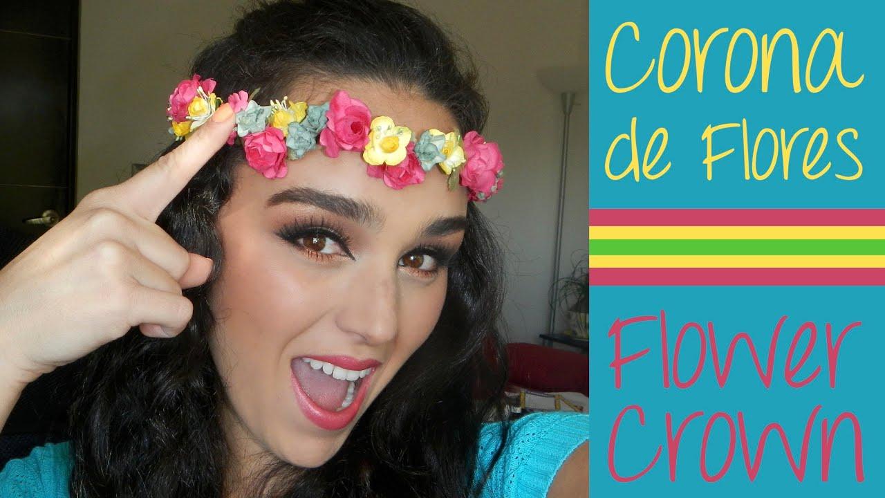 Diy corona de flores flower crown monica makaco - Coronas de flore ...