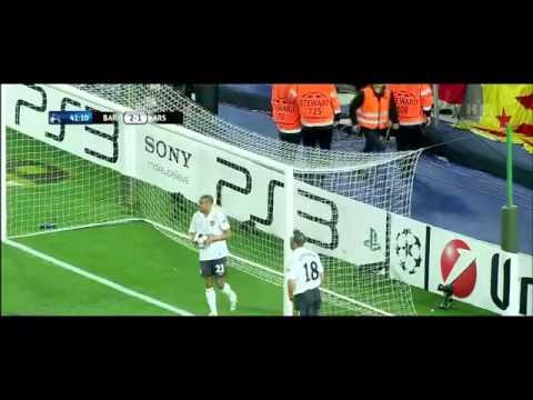 اهداف برشلونة 4 - 1 ارسنال هاتريك ميسي تعليق الشوالي [HD]