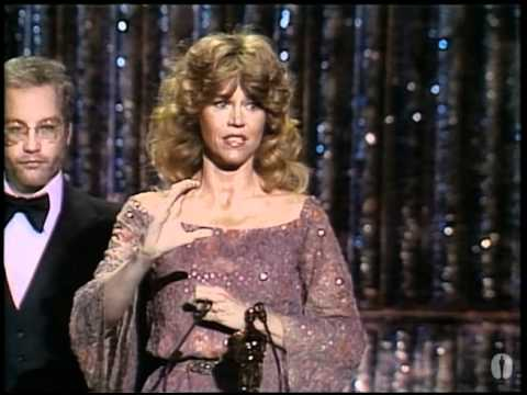 Jane Fonda winning an Oscar® for