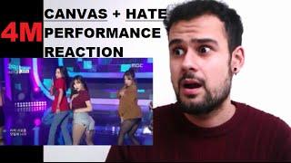 4Minute - Canvas + Hate - Live Performance MV Fanboy Reaction
