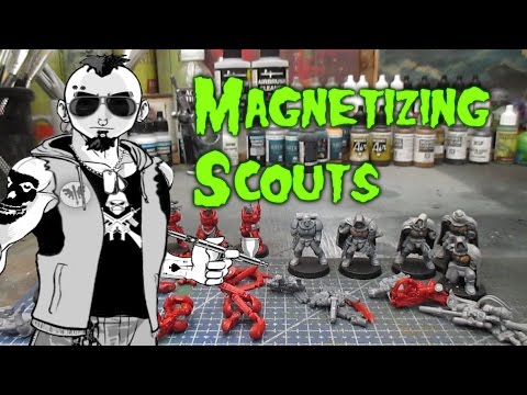 Magnetizing Space Marine Scouts for Shadow War: Armageddon