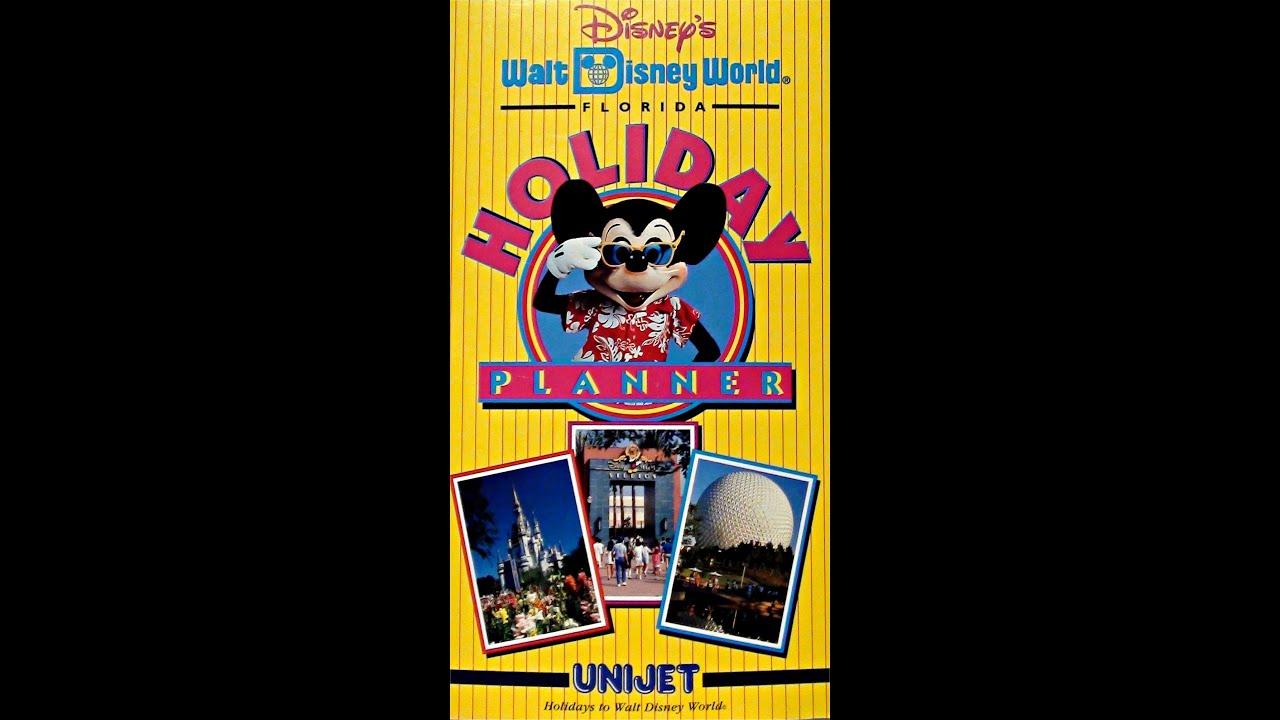 Walt Disney World Holiday Planner Unijet Uk Vhs 1994 95