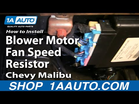How To Install Replace Blower Motor Fan Speed Resistor Chevy Malibu 97-03 1AAuto