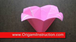 Origami Instructions Origami Bell Flower