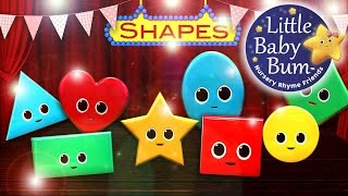 Shapes Song | Nursery Rhymes | from LittleBabyBum!