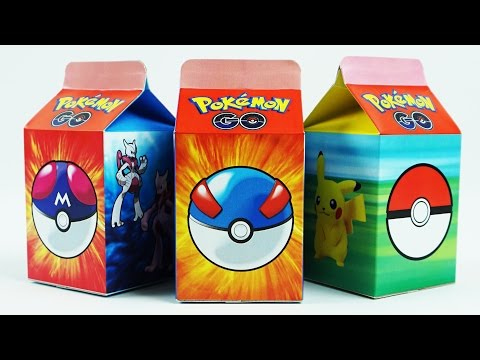Pokemon Go Milk Carton Surprise Toys,Pikachu,Mega scizor,Mega MewTwo,Charizard,Mega Swampert