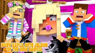 Minecraft Role Play - PRINCESS BABY KAYLA IS JEALOUS OF THE NEW BABY!