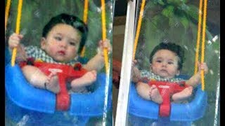 Kareena Kapoor Son Taimur Ali Khan Swinging On Swing