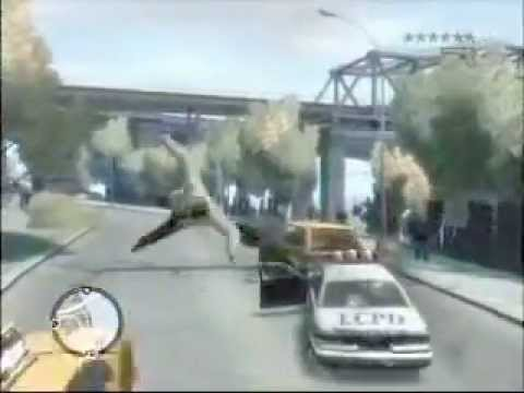 Grand Theft Auto 4 Unbelievable Crashes/Falls Episode 1 Video
