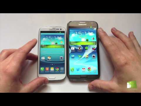 Comparativa Samsung Galaxy S3 vs Samsung Galaxy Note 2 en español   FAQsAndroid.com