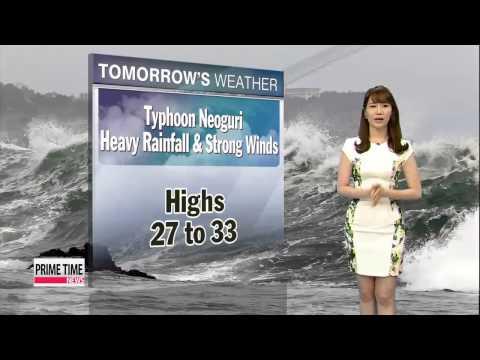 Typhoon Neoguri to turn towards Japan tomorrow morning