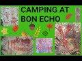Camping at Bon Echo Provincial Park in Cloyne, Ontario.