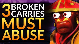 3 ABSOLUTELY BROKEN Carry Heroes to ABUSE - FREE MMR in 7.26c - BEST Tips and Tricks - Dota 2 Guide