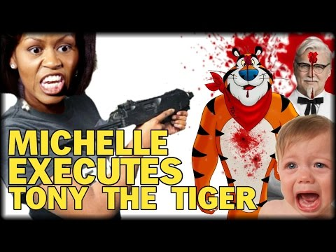 INSANE: MICHELLE OBAMA EXECUTES 'TONY THE TIGER' AND 'THE COLONEL' WITH NEW DRACONIAN DAYCARE LAW