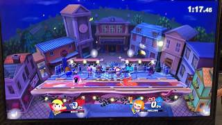 ORG ramble (Ness) vs Aluf (Inkling) - Armageddon Expo 2018 Super Smash Bros Ultimate Demo