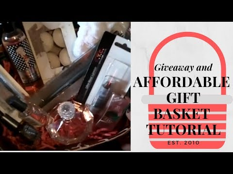Affordable gift basket tutorial and giveaway..MOV
