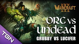 Warcraft 3 - Grubby (Undead) vs Lucifer (Orc) - Lost Temple