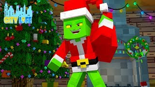 THE GRINCH STEALS CHRISTMAS pt 1 | Minecraft Little Kelly