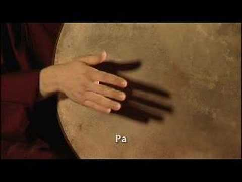 frame drum Instruction - lapstyle