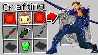 CRAFTING HAWKEYE IN MINECRAFT!