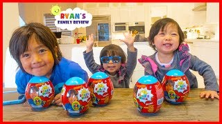 Ryan Emma and Kate Open Mini Surprise Eggs with toys for kids!!!!