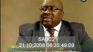 Chairman falls off chair while in an interview (South African)