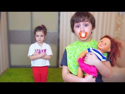 Камиль НЕ ХОЧЕТ играть В КУКЛЫ! Аминка НОВАЯ НЯНЯ! ! Для детей kids children