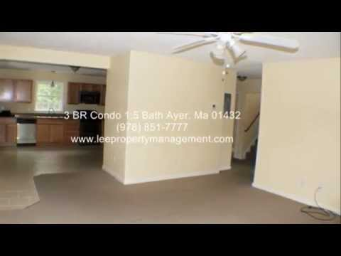 Ayer, Ma 3/4 BR Condo with W/D Hookups, 2 levels, off street parking and more
