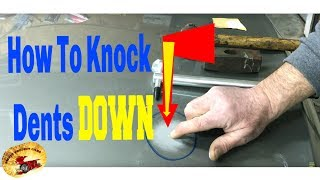 How To TAP AUTO BODY DENTS DOWN...DIY